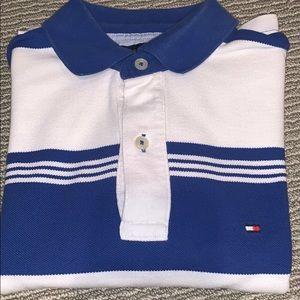 Tommy Hilfiger blue stripe polo men XS